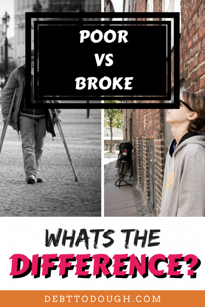 Broke Vs Poor Graphic