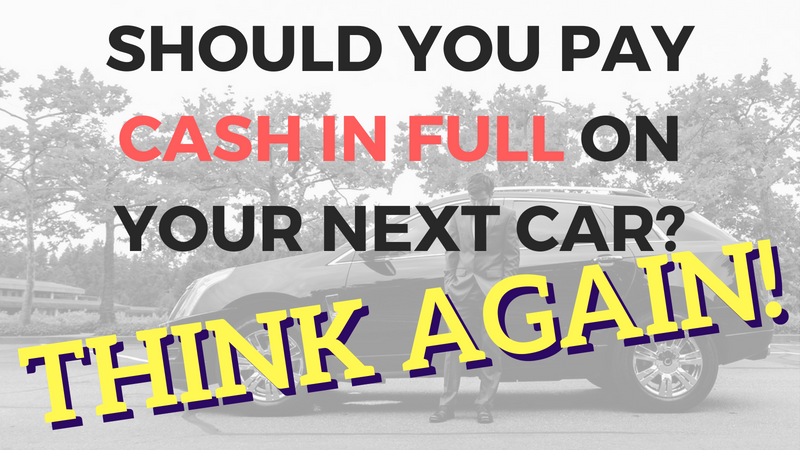 Cash Vs Payments on Car