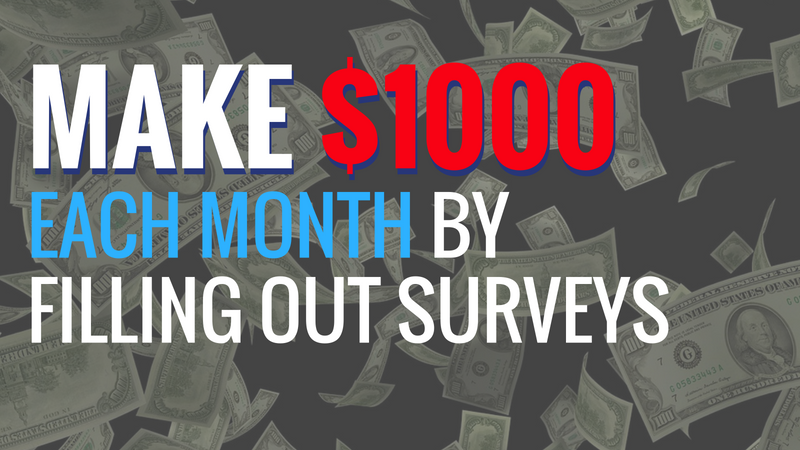 Make $1000 Surveys Each Month