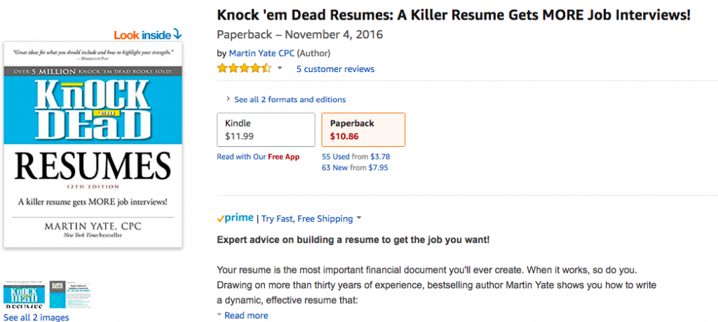The Best Resume Book You'll Ever Read