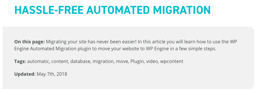 WP Engine WordPress Migration