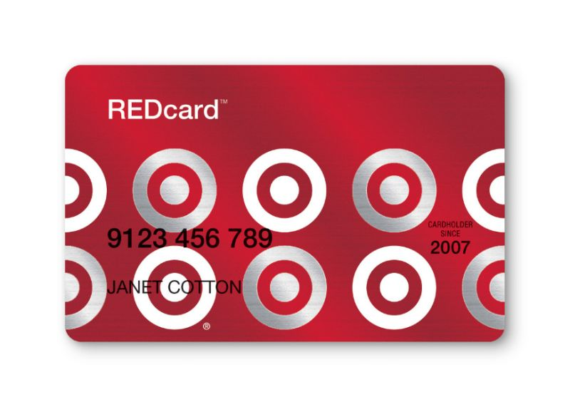 target credit card sample