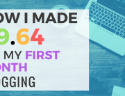 June 2018 First Month Blogging Income Report