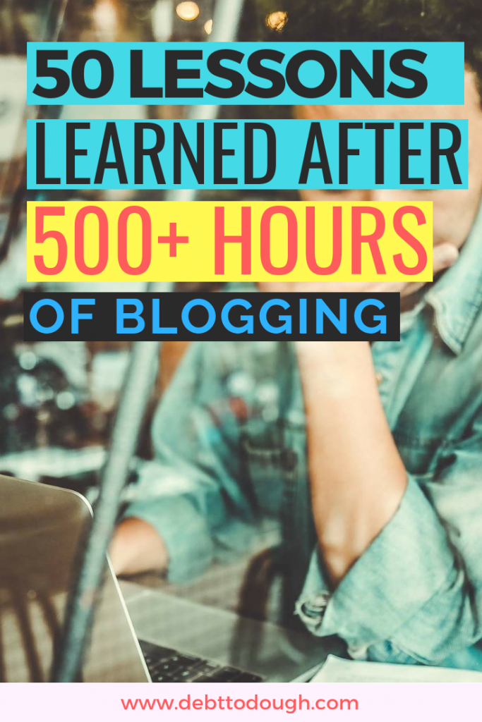 50 Lessons Blogging 500 Hours