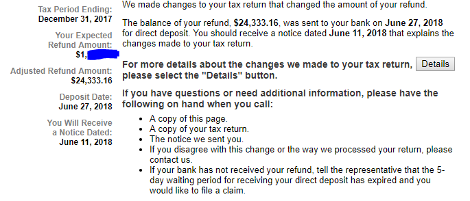 Refund Overpayment